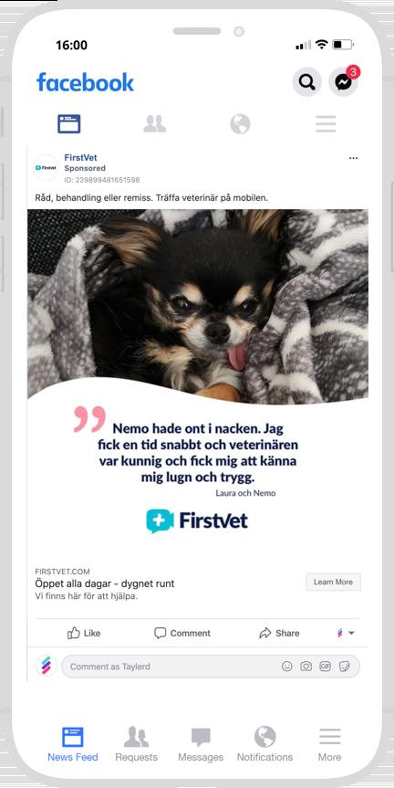 Marknadsföring Digitalt Appar Firstvet Veterinär
