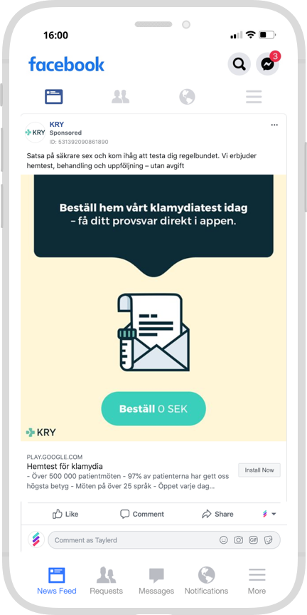 Marknadsföring Digitalt Appar Kry Nätläkare
